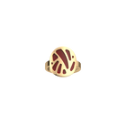 Perroquet Ring, Gold finish, Crimson / Shell image number 1