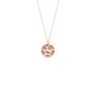 Collier Girafe, Finition dorée rose, Rose Clair / Gris Clair image number 1