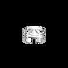 Bague Talisman 12 mm, Finition argentée image number 1