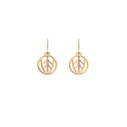 Faucon Sleeper 16 mm Earrings, Gold finish image number 1