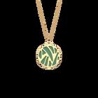 Collier Perroquet, Finition dorée, Vert d'eau / Paillettes argentées image number 2