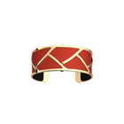 Manchette Tresse, Finition dorée, Rouge / Paillettes Noires image number 2