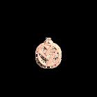 Pendentif Tresse Rond 25 mm, Finition dorée rose image number 1
