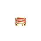 Liens Ring, Gold finish, Soft Coral / Midnight Blue image number 1