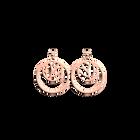 Boucles d'Oreilles Lotus, Double Rond 16 mm, Finition dorée rose image number 1
