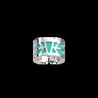 Ibiza Ring, Silver Finish, Light Pink / Turquoise image number 2