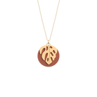 Monstera Necklace, Gold finish, Terracotta / Lagoon Blue image number 1