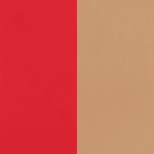 Leather insert, Soft Red / Beige image number 1