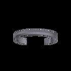 Bracelet Chevron 14 mm, Finition ruthénium satinée image number 1