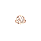 Perroquet ring Round 16 mm, Rose gold finish image number 1