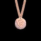 Monstera Necklace, Rose gold finish, Light Pink / Light Grey image number 1