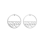 Faucon Hoop 43 mm Earrings, Silver finish image number 1