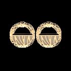 Boucles d'oreilles Créoles Perroquet, Finition dorée, Crème / Or Paillette image number 2