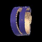 Lederarmband doppelt gewickelt Königsblau / Meerjungfrau Rosa, Gold Ausführung Schnalle image number 1
