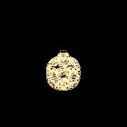 Pendentif Girafe Rond 25 mm, Finition dorée image number 1