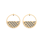 Ruban Hoop Earrings, Gold finish, Light Pink / Light Grey image number 2