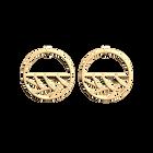 Boucles d'oreilles Tresse, Créoles 43 mm, Finition dorée image number 1