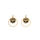 Girafe Double Round 16mm Earrings, Gold finish, Blush / Bronze image number 1