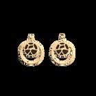 Boucles d'oreilles Double Rond Girafe, Finition dorée, Blush / Bronze image number 1