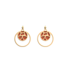 Girafe Double Round 16mm Earrings, Gold finish, Blush / Bronze image number 2
