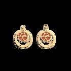 Boucles d'oreilles Double Rond Girafe, Finition dorée, Blush / Bronze image number 2