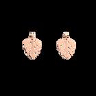Boucles d'oreilles Monstera, Rond 25 mm, Finition dorée rose image number 1
