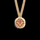 Collier Lotus, Finition dorée, Terracotta / Bleu Lagon image number 1