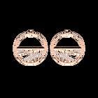 Boucles d'oreilles Liens, Créoles 43 mm, Finition dorée rose image number 1