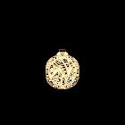 Pendentif Perroquet Rond 25 mm, Finition dorée image number 1