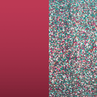 Leather insert - Bracelets & Bags, Soft Raspberry / Multicoloured Glitter image number 1