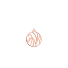 Perroquet Pendant round 25 mm, Rose gold finish image number 1