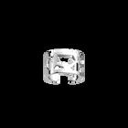 Girafe ring 12 mm, Silver finish image number 1