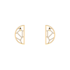 Boucles d'oreilles Girafe, Demi-lunes 30 mm, Finition dorée image number 1