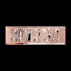 Bijou de sac Volute 40 mm, Finition dorée rose image number 1