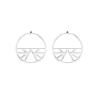 Ibiza Hoop 43 mm Earrings, Silver finish image number 1
