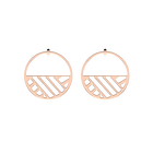Ruban Hoop 43 mm Earrings, Rose gold finish image