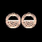 Boucles d' Oreilles Ruban, Créoles 43 mm, Finition dorée rose image number 1