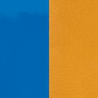Cuir, Bleu Vif Vernis / Moutarde image number 1