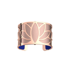 Manchette Lotus, Finition dorée rose, Bleu Outremer / Rose Sirène image number 2