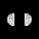 Boucles d' Oreilles Perroquet, Demi-lunes 30 mm, Finition argentée image number 1