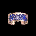 Manchette Nénuphar, Finition dorée rose, Bleu Outremer / Rose Sirène image number 2
