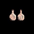 Boucles d'Oreilles Plumes, Dormeuses 16 mm, Finition dorée rose image number 1