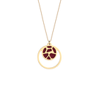 Girafe Necklace, Gold finish, Patent Soft Raspberry / Multicolored Glitter image number 1