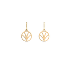 Papyrus Sleeper 16 mm Earrings, Gold finish image number 1