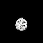 Pendentif Solaire Rond 25 mm, Finition argentée image number 1