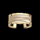 Liens Bracelet, Gold finish, Black / White image number 2