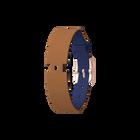 Bracelet Cuir Bleu Denim / Canyon, boucle dorée rose image number 1