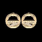 Boucles d'oreilles Liens, Créoles 43 mm, Finition dorée image number 1