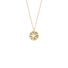 Solaire Necklace, Gold finish, Black / White image number 2