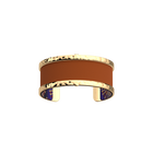 Pure Martelée Bracelet, Gold finish, Peacock / Cognac image number 2